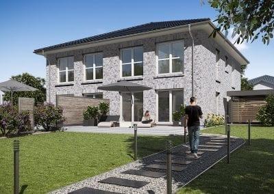WBI Hausbau - Die Stadtvilla Doppelhaus 130