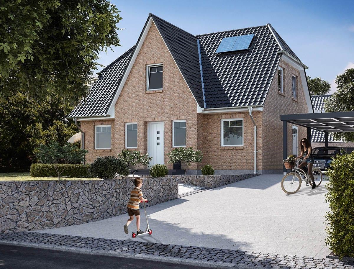 WBI Hausbau - Eine Übersicht aller Haustypen finden Sie hier - Friesenhaus 125 Klinker
