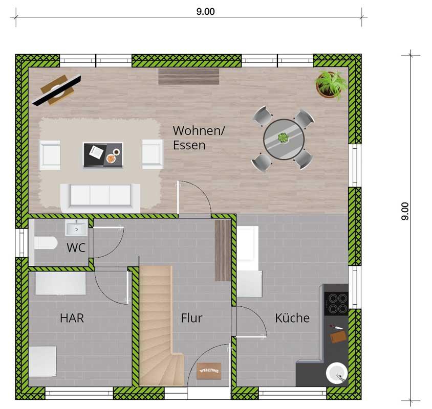 grundrissvorschlag efh junges wohnen 130 dachgeschoss