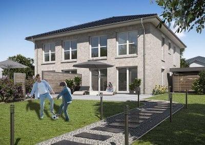 Neubau in Schwentinental mit WBI Hausbau - DHH Stadtvilla 110