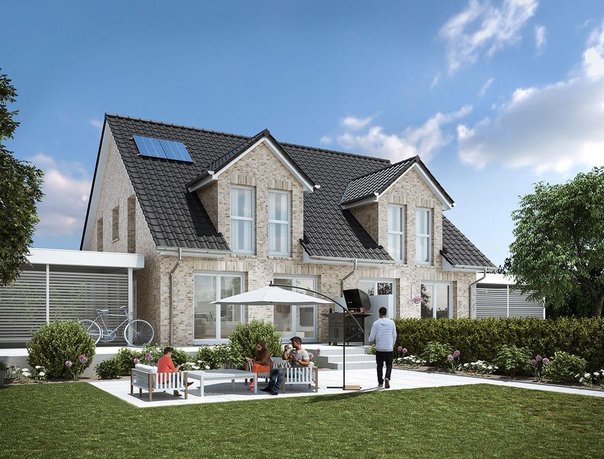 WBI Hausbau - Eine Übersicht aller Haustypen finden Sie hier - Stadthaus 130 als Doppelhaushälfte