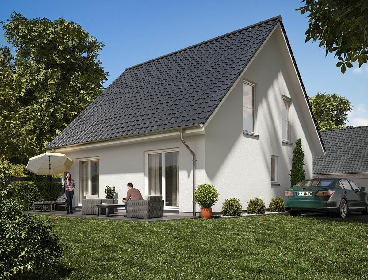 WBI Hausbau - Eine Übersicht aller Haustypen finden Sie hier - Stadthaus 130 als Putzhaus