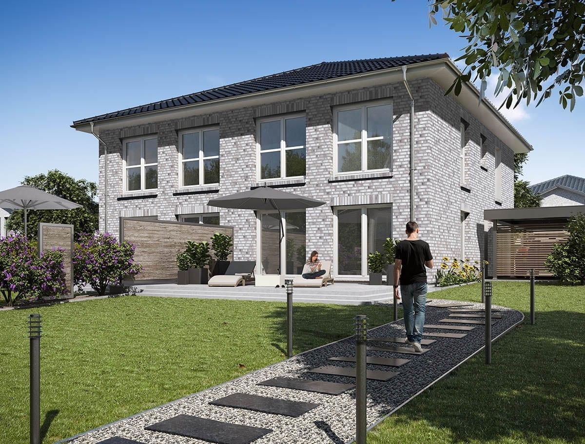 WBI Hausbau - Eine Übersicht aller Haustypen finden Sie hier - Stadtvilla Doppelhaushälfte 130